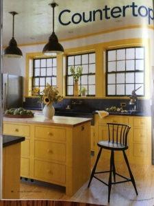 Brooks Custom maple butcher block in FIne Homebuilding Magazine