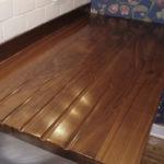 premium wide plank countertop details