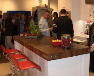 end grain walnut butcher block chopping block at the hamptons contemporary design show