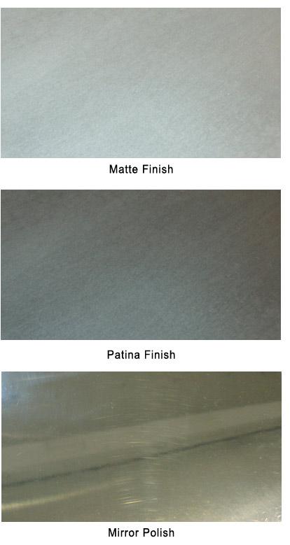 zinc finish options
